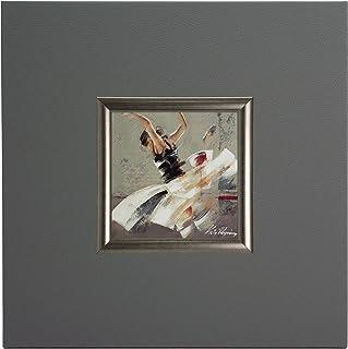 ERGO-PAUL de igp4274-E1–80sz7–40x 40x 1,5Dance Fusion I, Paper/Eco Leather/Wood, Grey, 40.0x 40.0x 1,5cm