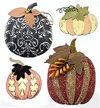 Jolee's Boutique 50-21563 Dimensional Stickers, Metallic Pumpkins