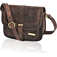 Leather Crossbody Bags For Women - Crossover Purse Over The Shoulder Womens Purses and Handbags...