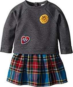 Mini Francine Sweater Top Check Skirt Dress (Infant/Toddler)