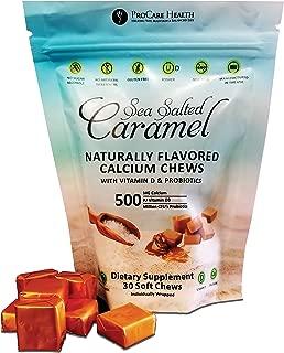 ProCare Health Sea Salted Calcium Caramel Chew with VIT D & Probiotics- 30ct Bag