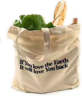 Organic Cotton 12 oz Heavy duty Canvas Shopping Bag Tote or Large Shoulder Bag – Logo Bag – Reusable and Washable – Eco-friendly Multipurpose Bags – Strong and Durable