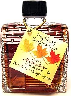Highland Sugarworks 100% Pure Grade A Vermont Maple Syrup: Log Cabin, 8.45 fl oz Glass Bottle