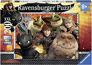 Ravensburger How to Train Your Dragon: Hicks, Astrid and The Dragons Jigsaw Puzzle (200 Piece)