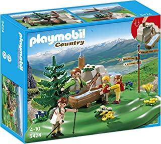 PLAYMOBIL Backpacker Family at Mountain Spring Playset