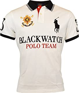 RALPH LAUREN Polo Mens Custom Fit Blackwatch Polo Shirt