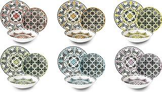 Excelsa - Service de Vaisselle Roma 18 pièces Multicolore