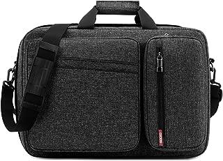 Convertible Laptop Bag Backpack,SOCKO Multi-Functional Water Resistant Messenger Bag Briefcase Business Travel College Laptop Shoulder Bag for Men/Women Up to 17.3 Inch Laptop Computer,Dark Grey
