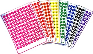 Tag-A-Room Color Coded Numbered Label Dots, 960 count