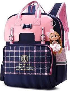 Cute Bowknot Backpacks for Girls Princess Style Children School Bookbags (Small, Blue)