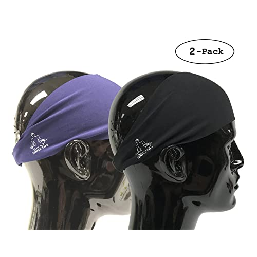 5ea4237b305 Temple Tape Headbands for Men and Women - Mens Sweatband   Sports Headband  Moisture Wicking Workout