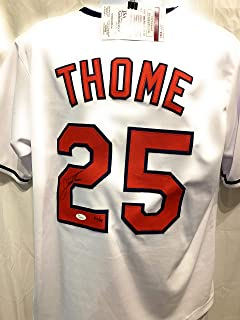Jim Thome Cleveland Indians Signed Autograph Custom White Jersey Limited Edition Cleveland Rocks JSA Certified