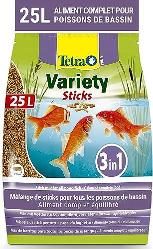 Tetra Pond Variety Sticks – Mélange Complet d'Aliments en Stick pour tous les Poissons de Bassin - Enrichis en Oligo-...