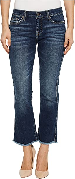 7 For All Mankind Cropped Boot w/ Frayed Hem in Midnight Desert