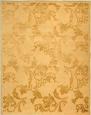Safavieh Tibetan Collection TB431C Hand-Knotted Beige Silk & Wool Area Rug (6' x 9')