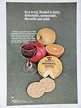 Bonbel Semisoft Cheese, 70's Color Illustration/Painting, Print Ad. 8 1/2