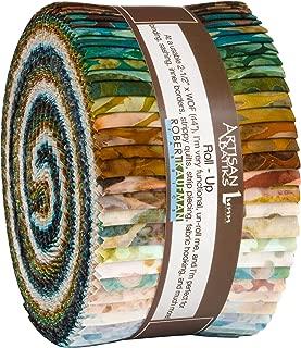 Lunn Studios Artisan Batiks Tavarua 2 Roll Up 40 2.5-inch Strips Jelly Roll Robert Kaufman RU-843-40