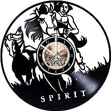 Spirit: Stallion of the Cimarron Vinyl Record Clock, Spirit Wall Decor, Little Creek Handmade Home Decor, Spirit Vinyl Wall Clock, Gifts for kids