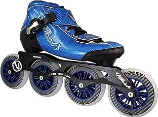 VNLA Carbon Speed Roller Blades/Adult Rollerblades Women - Adjustable Inline Skates for Women - Patines Roller Skate Blade - Rollerblades Men (Black, Blue, Green, Red)