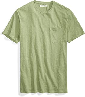 Goodthreads Amazon Brand Men's Lightweight Slub Crewneck Pocket T-Shirt