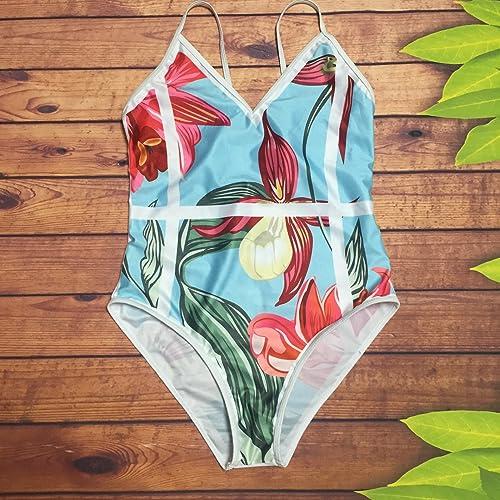 Gyps Femme Bikini Sexy de Bain Bikini à Bretelle Triangle maillot de bain Plage Maillot de Bain de sécurité Monobloc Impression numérique Mode Impression Triangle pièce, Couleur, L
