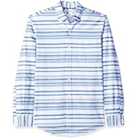 Amazon Essentials Slim-Fit L/S Stripe Pocket Oxford Shirt Deals