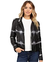 Brigitte Bailey - Skylar Faux Leather Tie-Dye Jacket