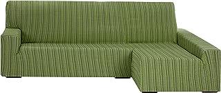 comprar comparacion Funda Elástica para Sofá Chaise Longue, modelo Mejico, Brazo Derecho, color verde, tamaño desde 240 a 280 cm