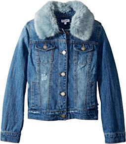 Splendid Littles - Faux Fur Collar Denim Jacket (Big Kids)