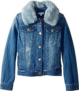 Splendid Littles - Faux Fur Collar Denim Jacket (Big Kids)