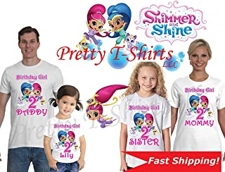 Shimmer and Shine Birthday Shirt, We Add Any Name and Age, Family Birthday Shirts, Shimmer and Shine Shirt, Shimmer and Shine Party Favor, Shimmer and Shine, Visit Our Shop