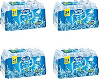 """Nestle Waters North America 101264 """"Nestle Pure Life"""" Purified Water 16.9 Oz (Pack of 24) (.4 Boxes. (96 Bottles))"""
