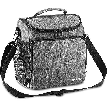 MAXTOP Sac Isotherme Repas Homme Portable Sac Dejeuner Lunch Lunch Bag Box Réutilisables Pour Femmes Avec Sangle Réglable Unisexe Pour Bureau Ecole Travail Voyage Pique-nique.