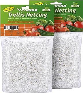 VIVOSUN 2 Pack Heavy Duty Polyester Plant Trellis Netting 5 x 15ft