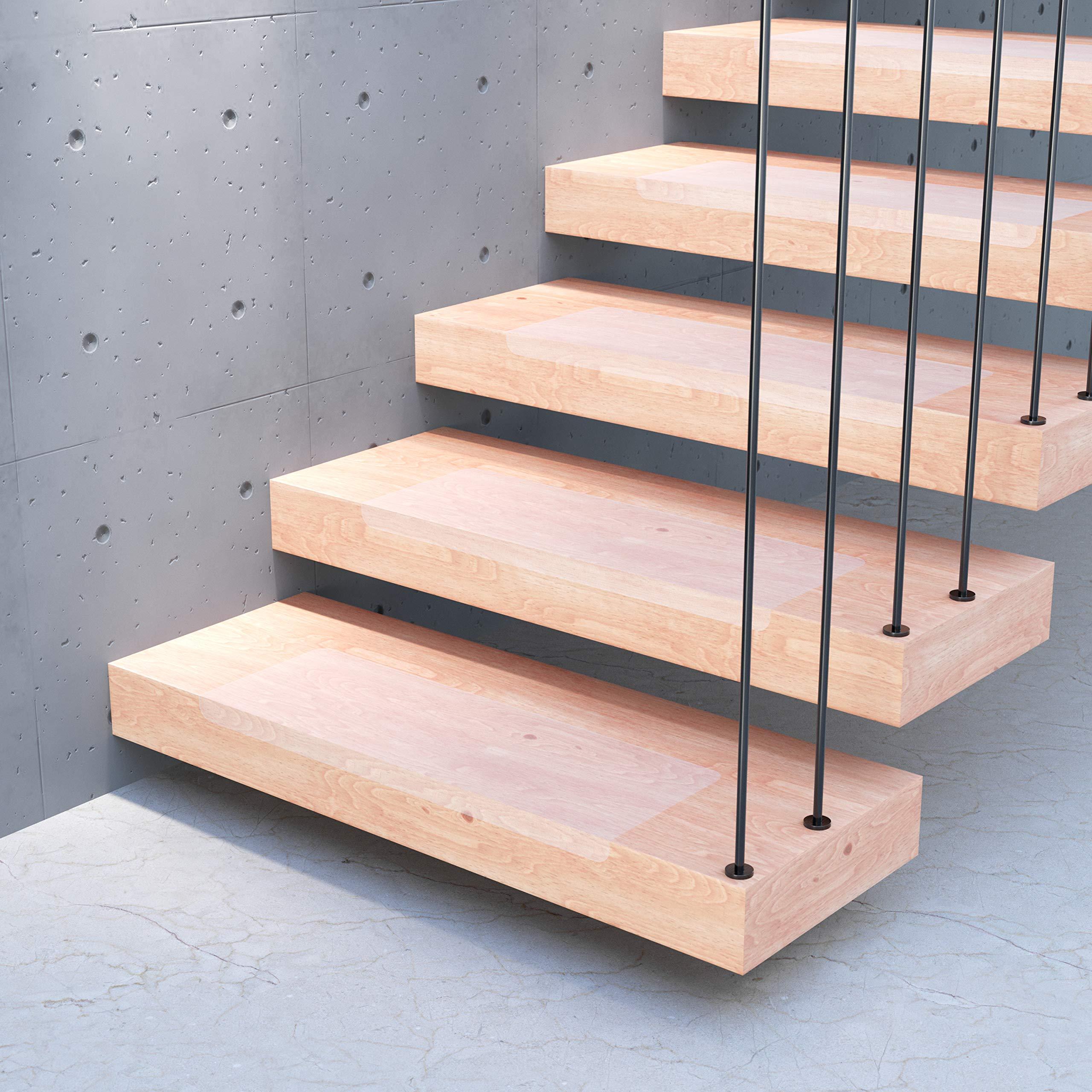 13x alfombrillas para peldaños STAIR PROTECT Sossai®   20 x 65 cm   Protección transparente para escaleras   Easy Clean   Autoadhesiva: Amazon.es: Bricolaje y herramientas