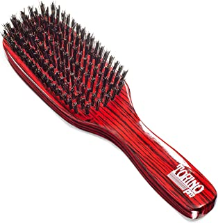 Torino Pro Hard Wave Brush By Brush King - #1840/7 Row hard/Great For wolfing and extra pull - Great for coarse hair waver...