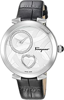 Salvatore Ferragamo Women's Analog Swiss-Quartz Watch with Leather Calfskin Strap FE2020016