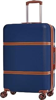 امازون بيسكس حقيبة سفر بعجلات 24 انش , ازرق كحلي