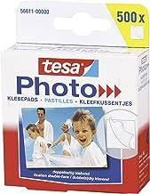 tesa Fotoplakkers - Dubbelzijdig klevend voor het makkelijk vastplakken van foto's - Grote verpakking met 500 stuks - Wit