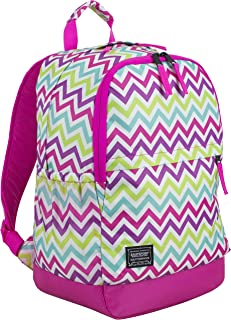 Eastsport Everyday Classic Backpack with Interior Tech Sleeve, Hot Pink/Spike Chevron Print