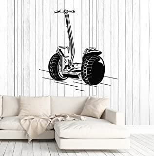 Vinyl Wall Decal Segway Hoverboard Shop Stickers Murals Large Decor (ig4797) Silver Metallic