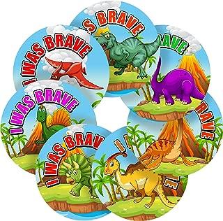 I was Brave Doctor Dinosaurs Praise Reward Sticker Labels, 12 Stickers @ 2.5