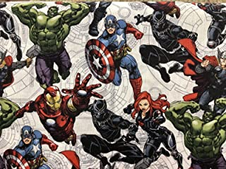 Lots Of Super Heros Valance Sale Window Curtain 43 Wide x 15 Long