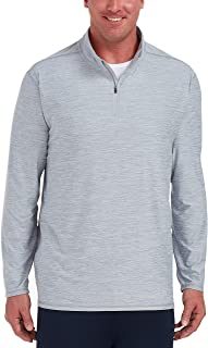 Amazon Essentials Men's Tech Stretch Quarter-Zip, Light Grey Space Dye, 4XLT