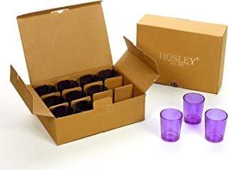 Hosley's Set of 24 Purple Glass Votive / LED Tea Light Holders. Ideal for Weddings, Parties, Spa & Aromatherapy, Votive Candle Gardens. Use with Hosley Tea Lights, Bulk Buy O3