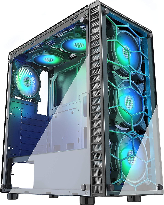Musetex 6 Rgb Lüfter Vorinstalliert Usb 3 0 2 Elektronik