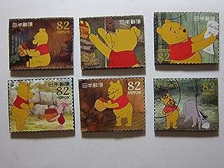 Winnie the Pooh Magnets - Set of 6 Postage Stamp Fridge Magnets Item#528e