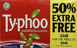 Typhoo tea bags  (160Bags plus 80 Bags ) 480 teabags (Pack of 2)