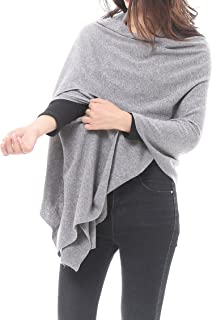 Bruceriver Women's Wool Blended Versatile Multi Style Long Knit Poncho Wrap