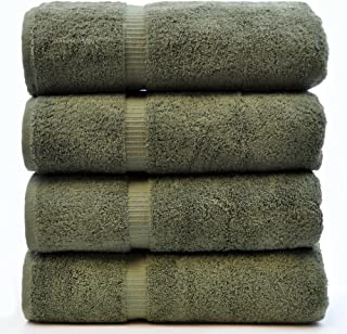 Chakir Turkish Linens Turkish Cotton Luxury Hotel & Spa Bath Towel, Bath Towel - Set of 4, Moss